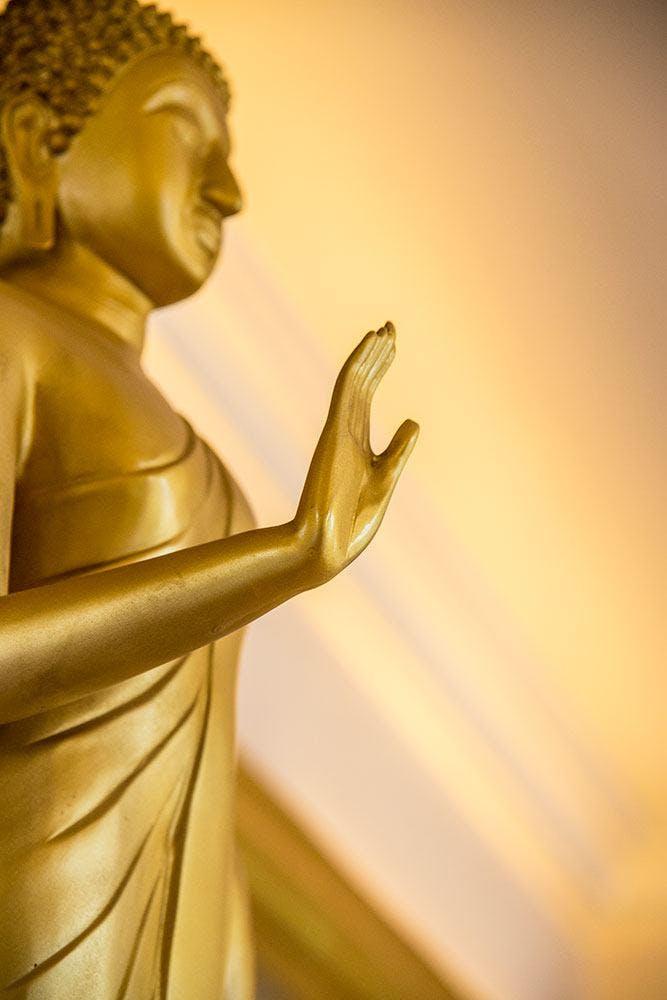 FOTOTAPETE BUDDHA-STATUE