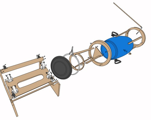 Exploded view of Divya One Prototype