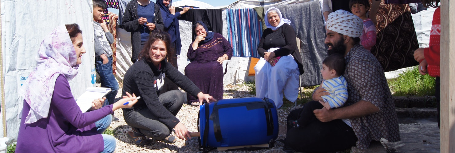 TWMP - Care international Research February 2019 - TWMP Founder in Refugee Camp, Kurdistan