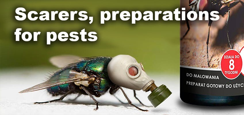 Scarers, preparations for pests