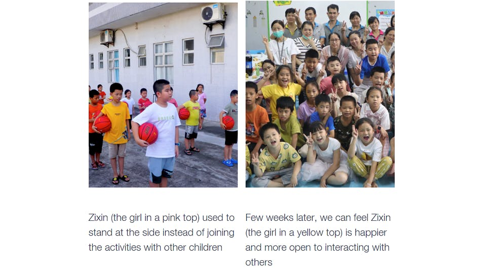 Famiy-Friendly Spaces activity - the story of Zixin