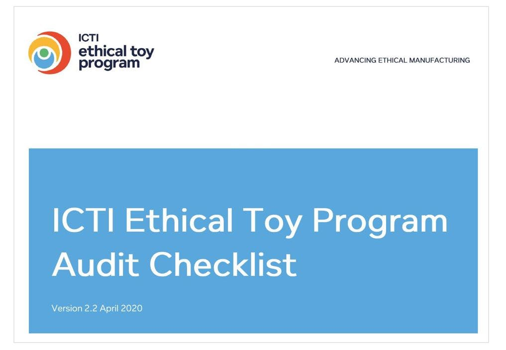 ICTI Ethical Toy Program Audit Checklist - Version 2.2