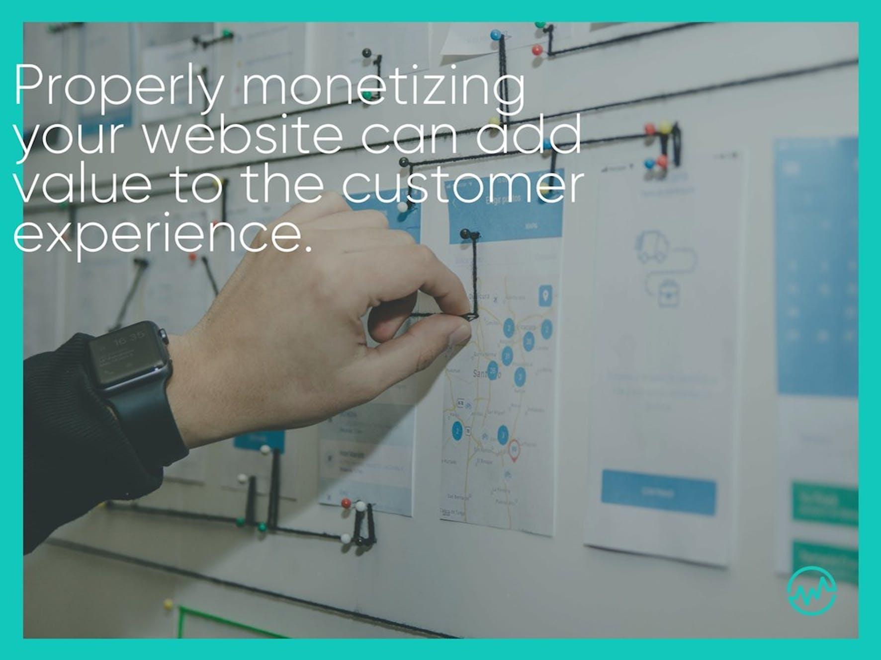 An entrepreneur planning a strategy to monetize a website