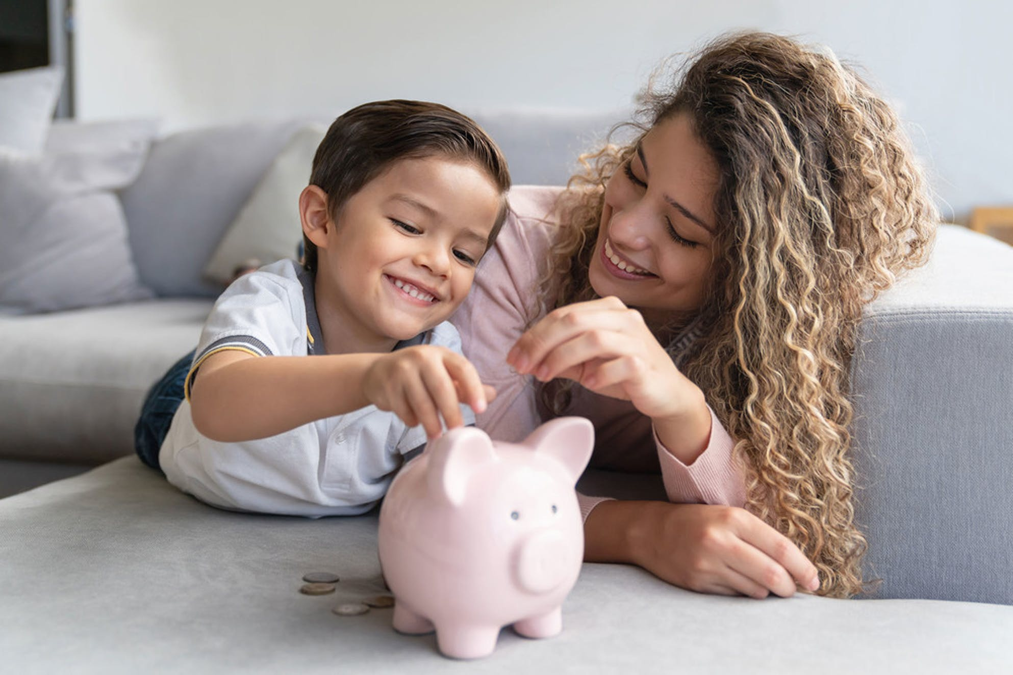 What to do with a tax refund: a woman saving for her child's future