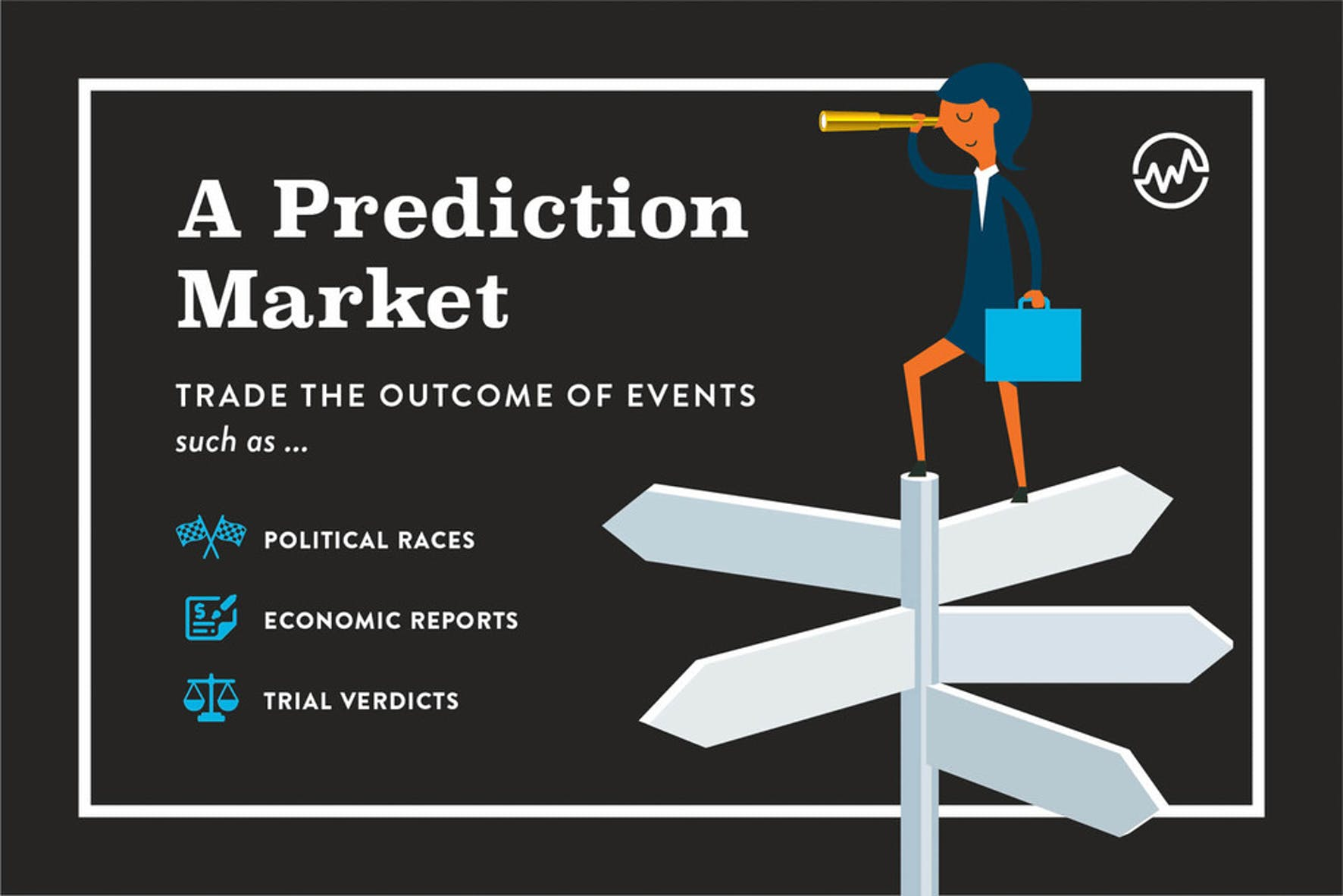 A prediction market allows you to invest in political races, economic reports, and trial verdicts