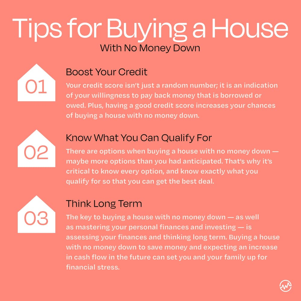 3 tips for buying a house with no money down