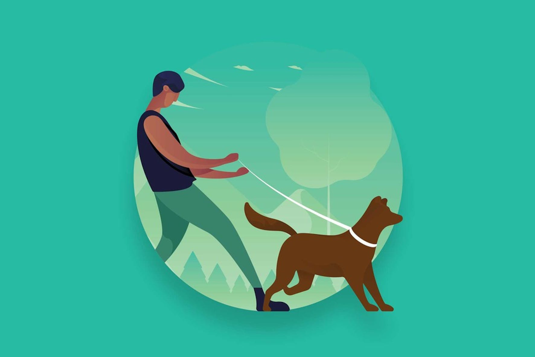 Making an extra income by walking dogs