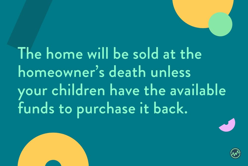 With a reverse annuity mortgage, the home will be sold at the homeowner's death unless your children have the available funds to purchase it back.