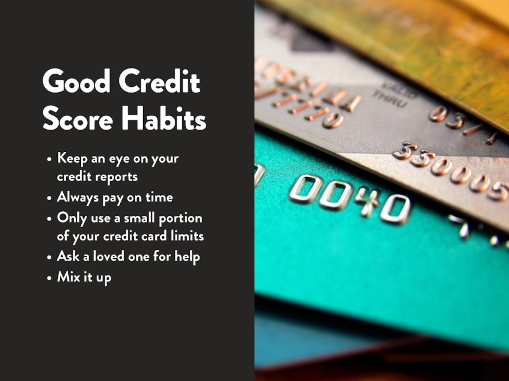 Good Credit Score Habits