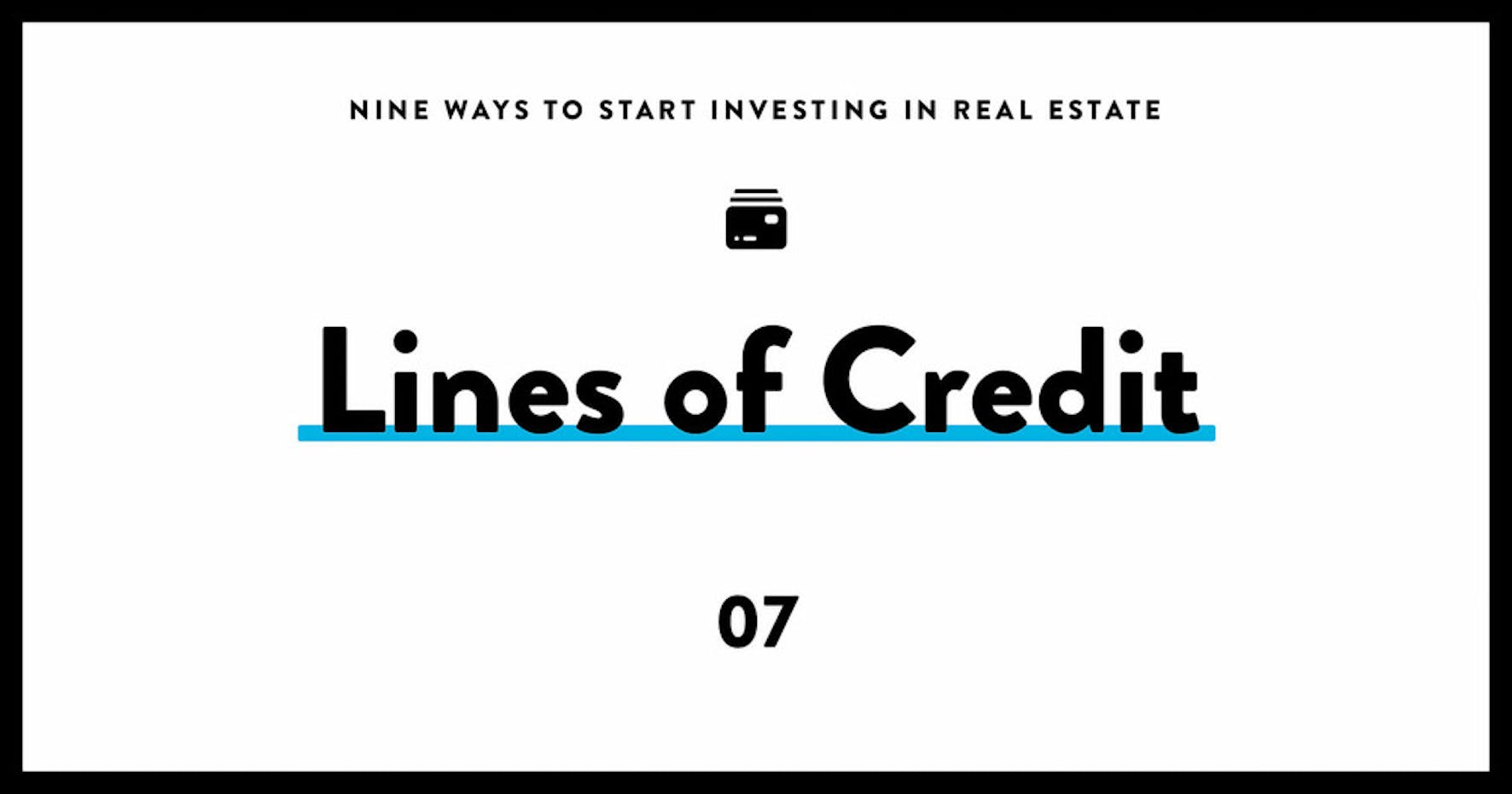 real estate investing for dummies 07 lines of credit