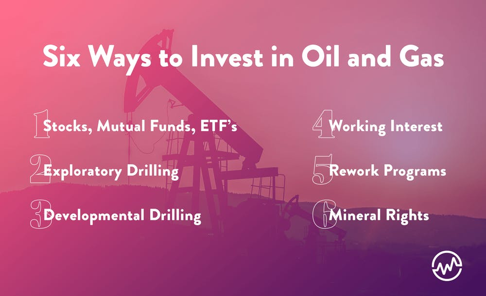 Six ways to invest in oil and gas