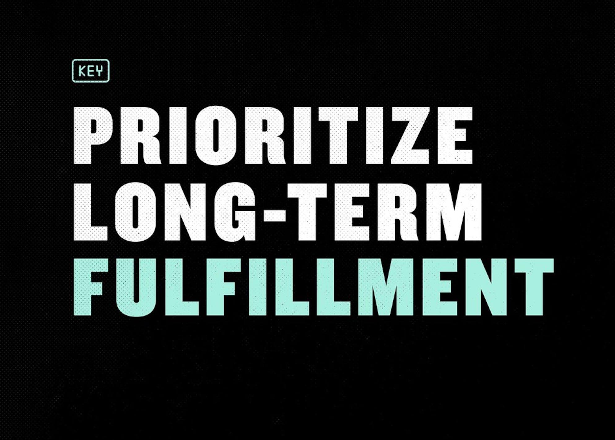Long-term fulfillment is a key benefit of smart goal setting