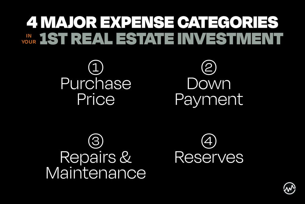 4 Major expense categories for your first real estate investment