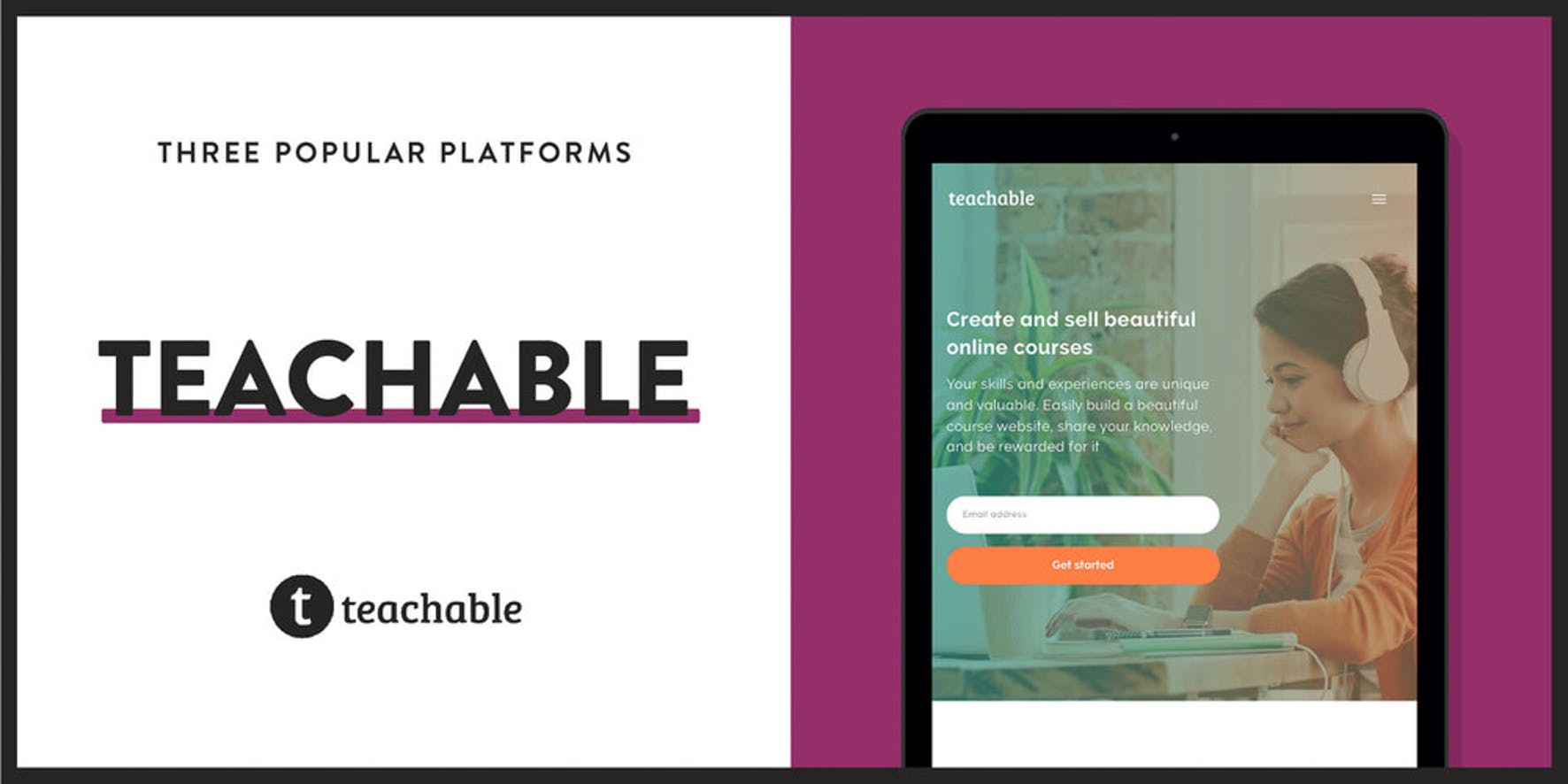 Teachable is a popular platform to sell courses online