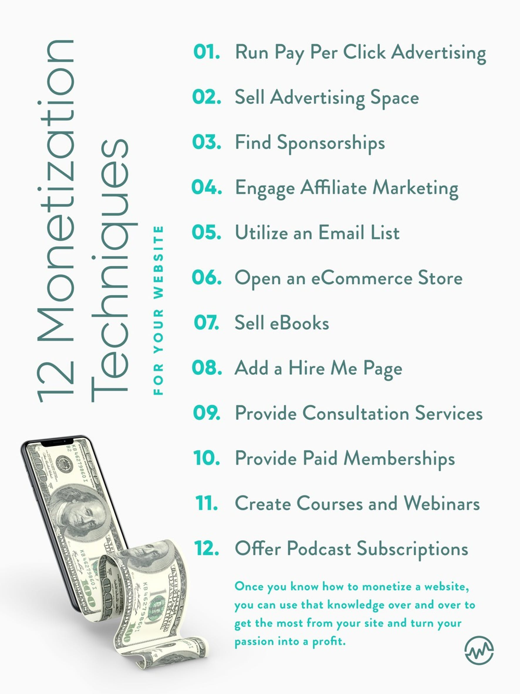 12 ways to make money from a website