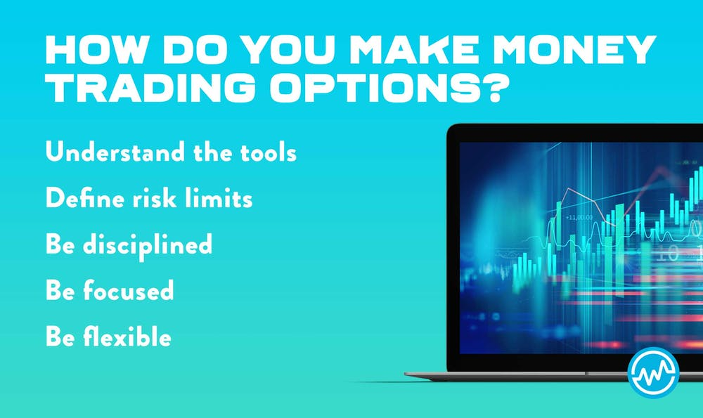 Explaining how to make money trading options