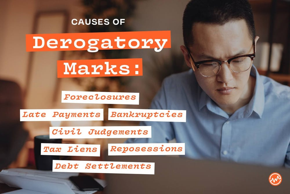 The causes of derogatory marks