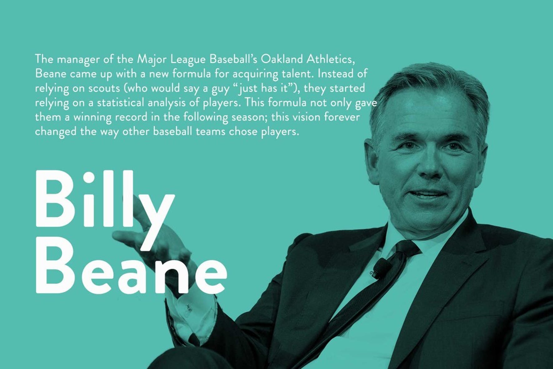 What is a visionary leader? Manager of the Oakland Athletics Billy Beane on being a visionary leder
