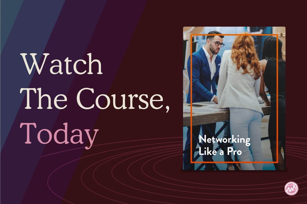 "Watch the WealthFit course ""Networking like a pro"""