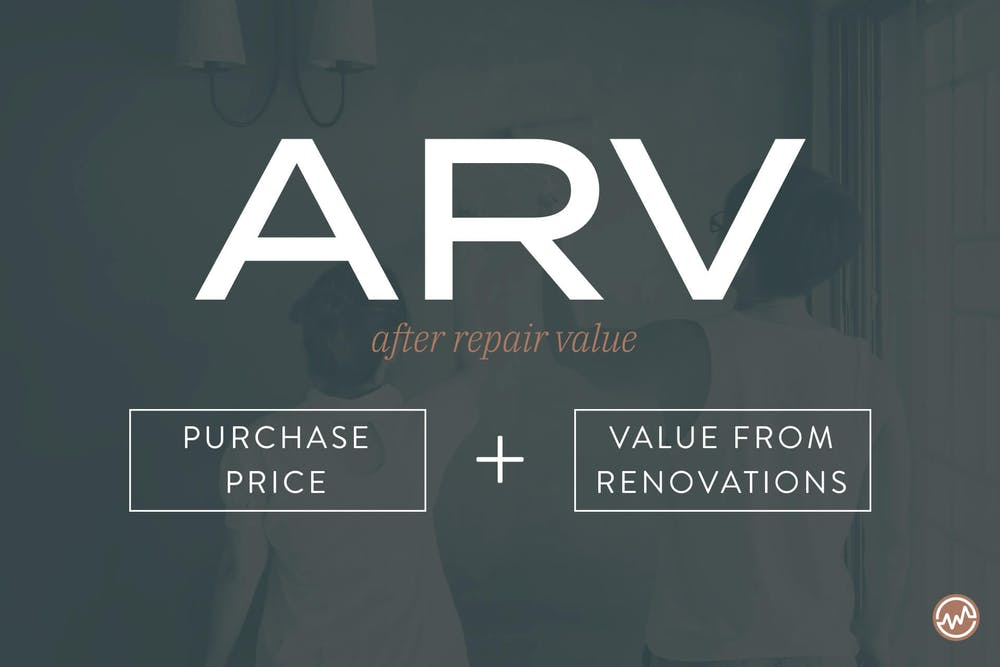 Purchase Price + Value From Renovations = After Repair Value