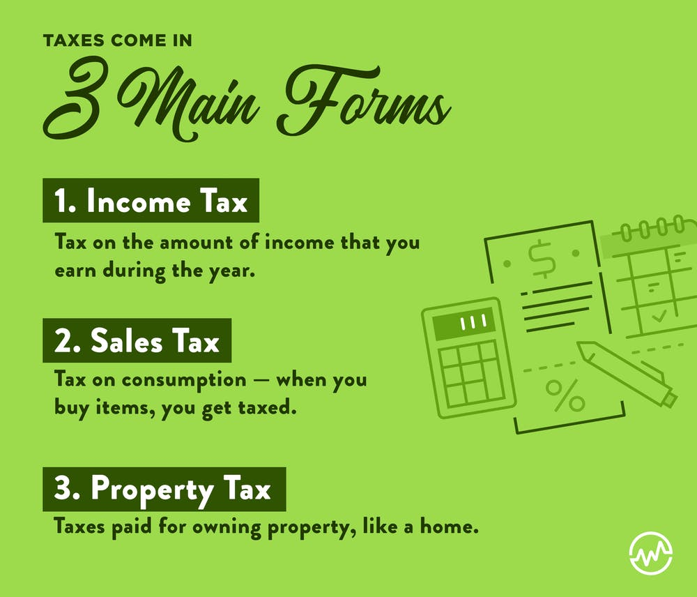 3 forms of taxes