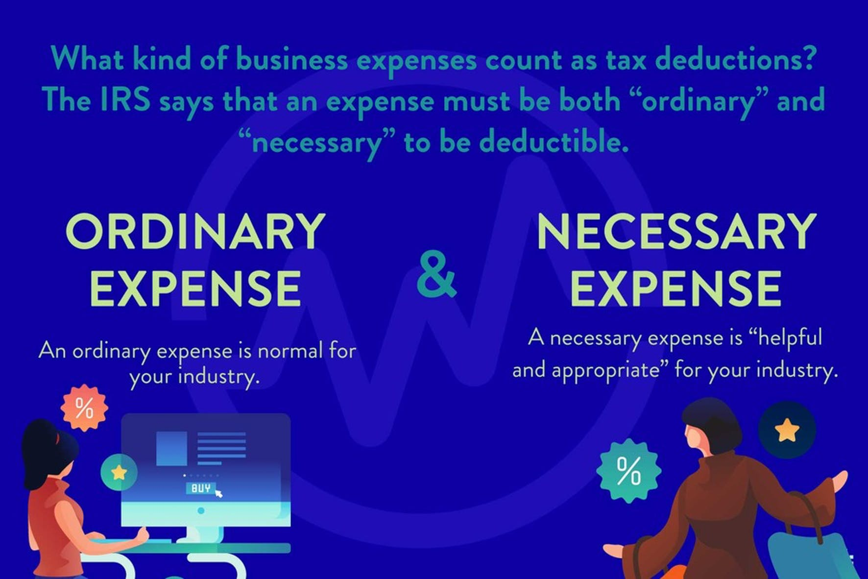 Understanding an ordinary expense vs necessary expense when discussing how do tax write-offs work