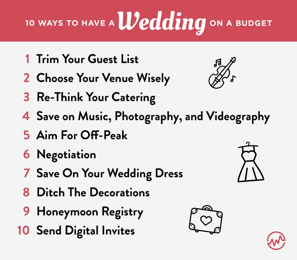 10 ways to have a wedding on a budget