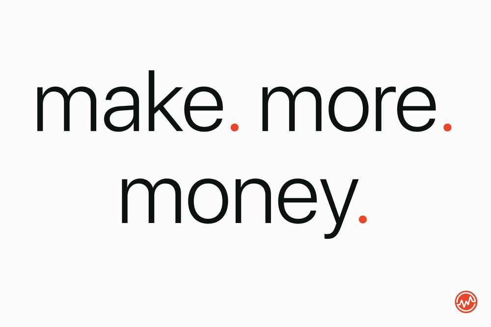 get out of debt by making more money