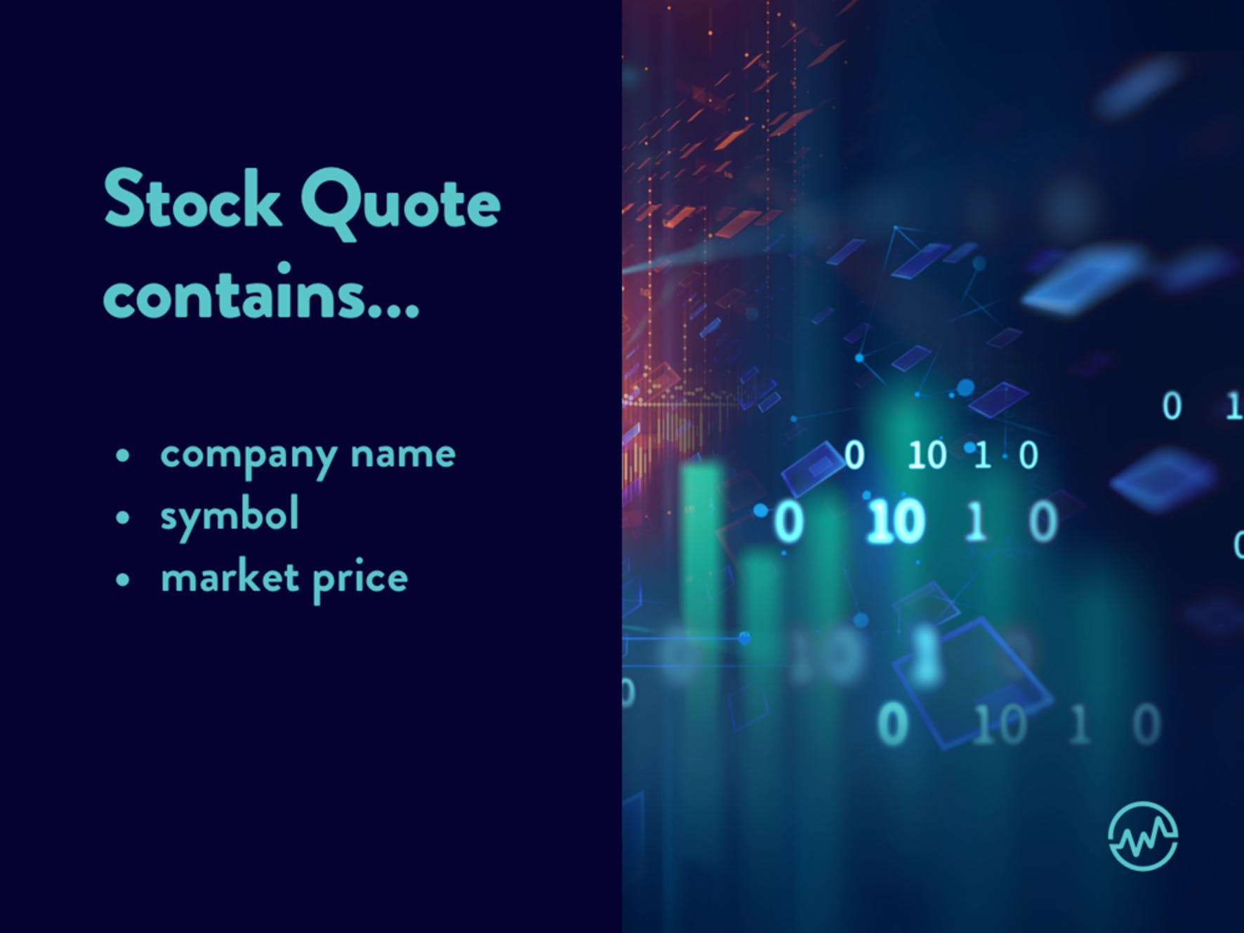 In order to know how to read a stock, an investor must know the stock quote contains contains a company name, symbol and market price