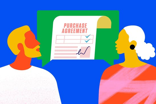 Using a real estate purchase agreement to buy or sell a house