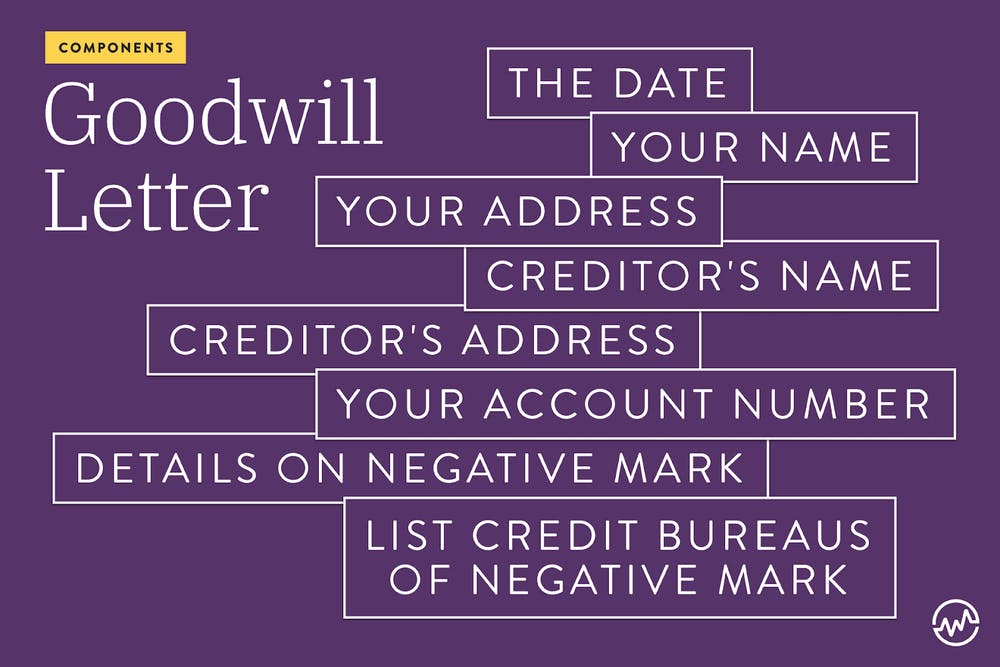 What makes up a goodwill letter?
