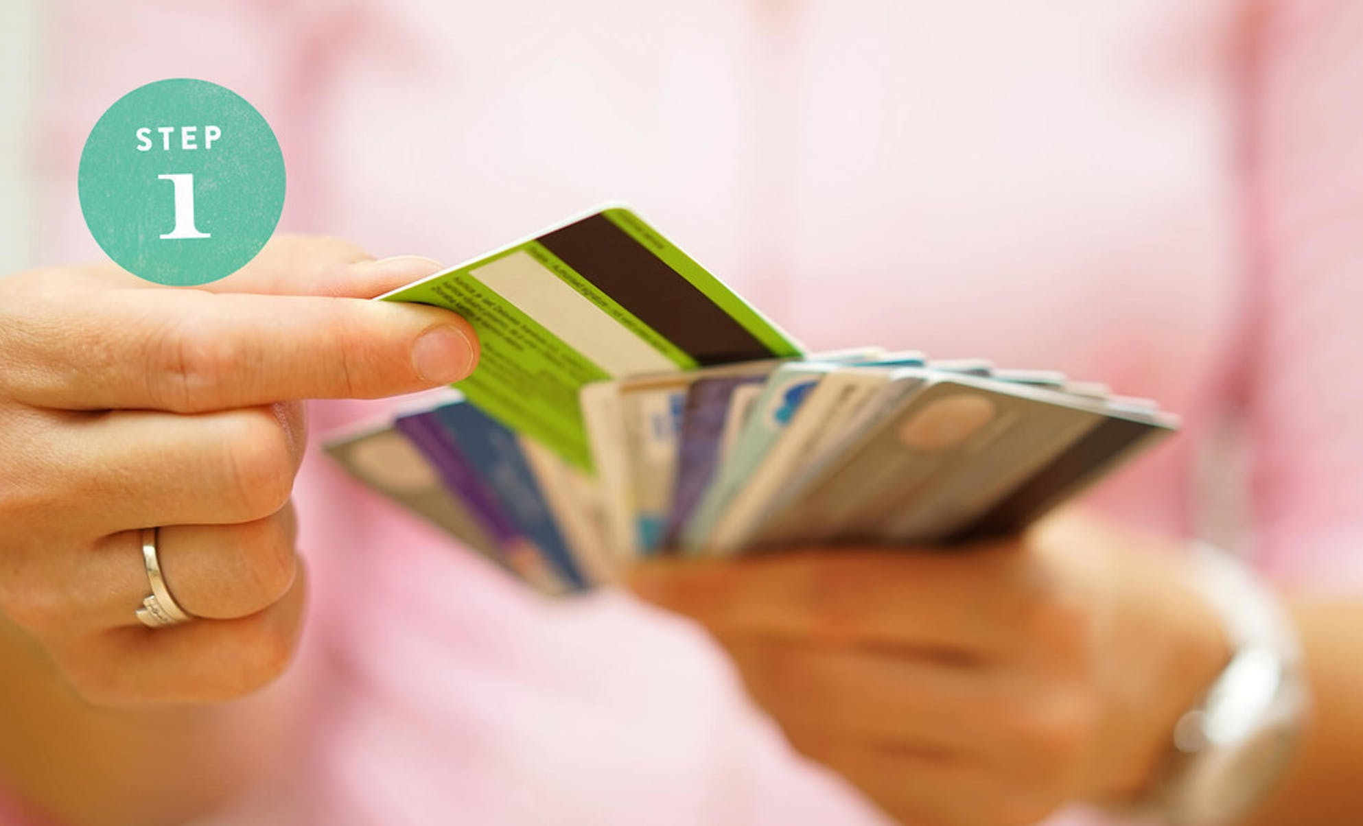 Holding different credit cards