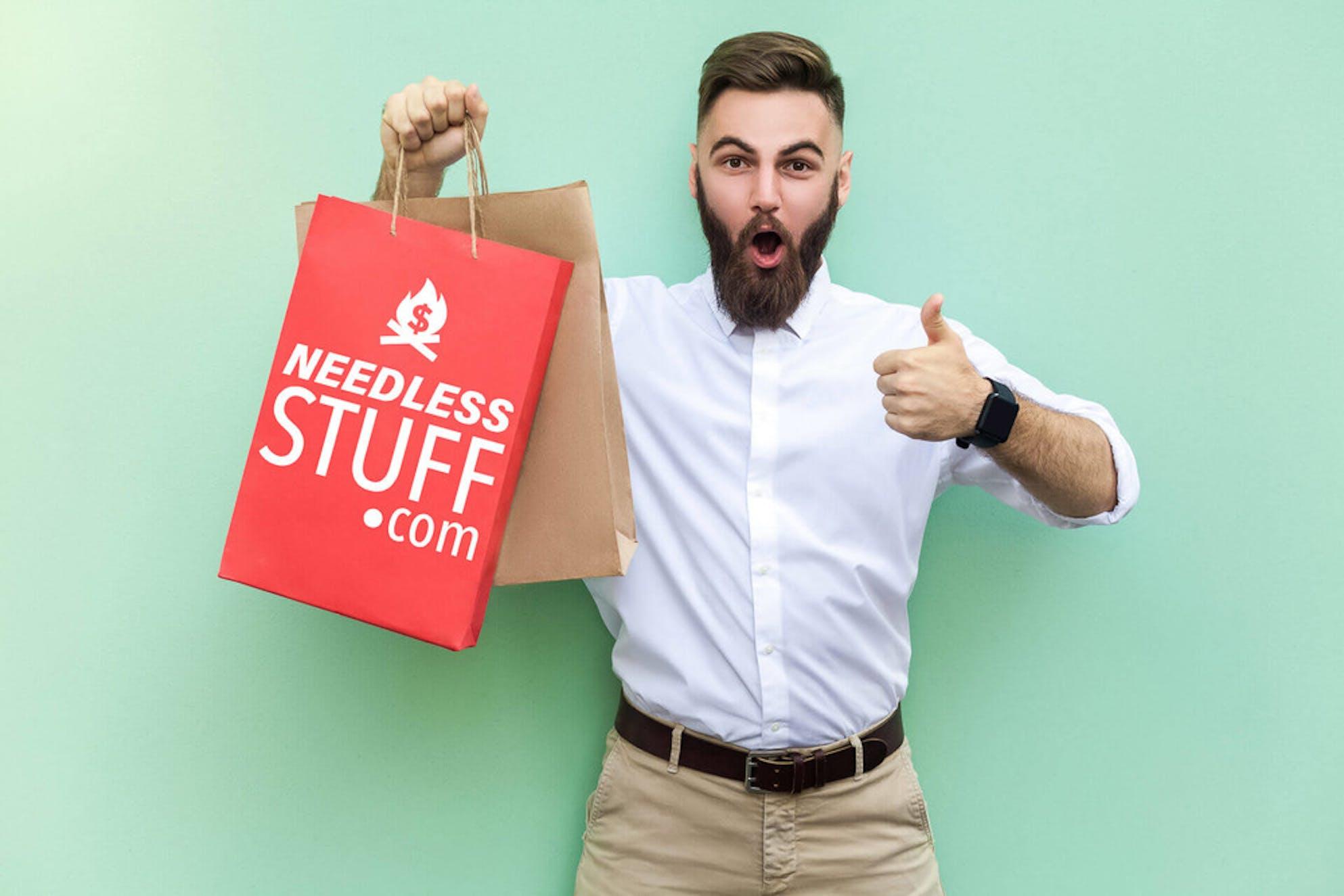 Impulsive shopper on a spending spree