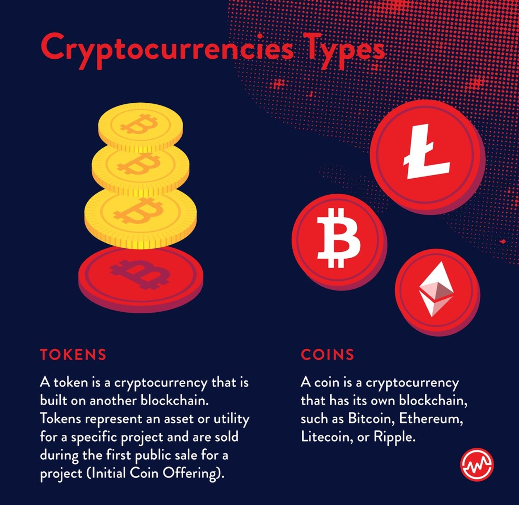Types of cryptocurrencies: tokens and coins