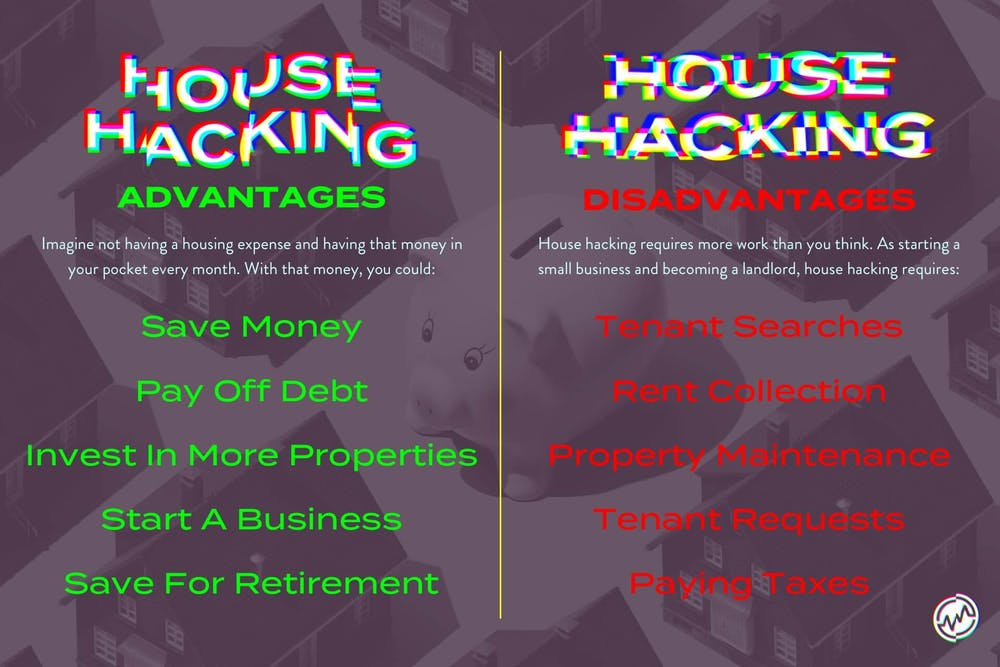 The advantages and disadvantages of house hacking