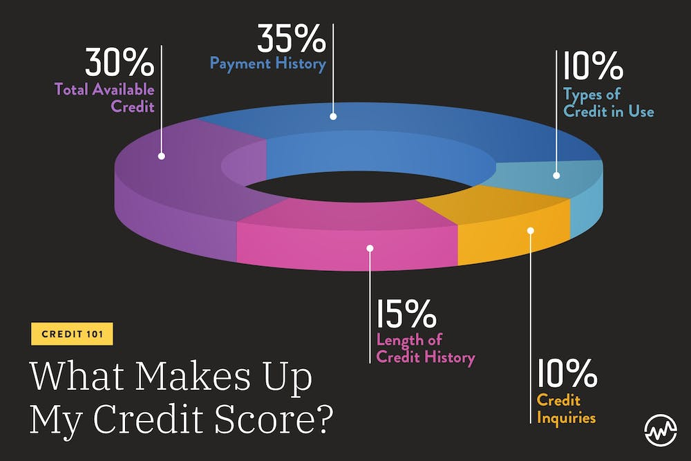 Goodwill letter: A chart explaining what makes up a credit score