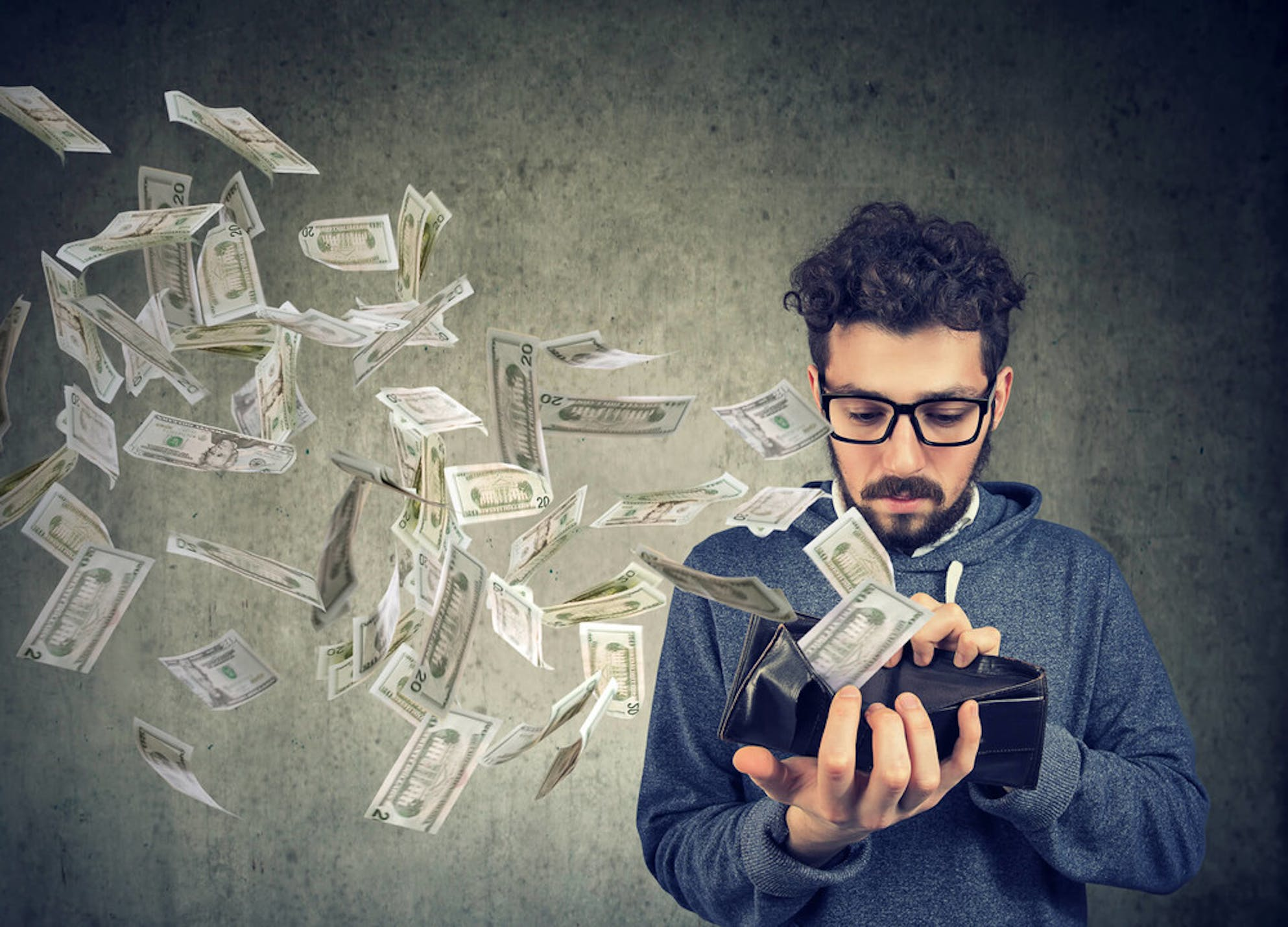 man budgeting too much or too little
