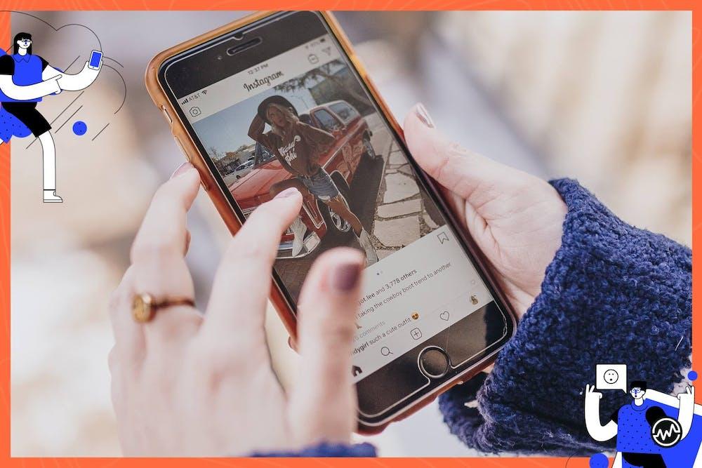 A female entrepreneur monetizing instagram