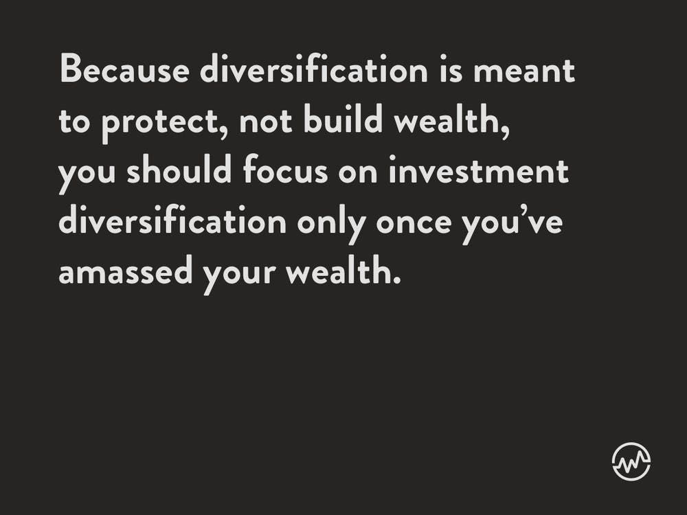 Diversification does not help you retire early