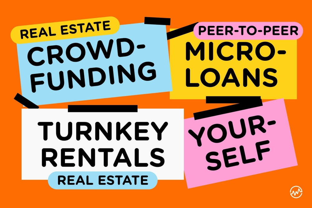 Four ways to invest 1000 dollars: peer to peer microloans, real estate crowdfunding, turnkey rentals, and yourself