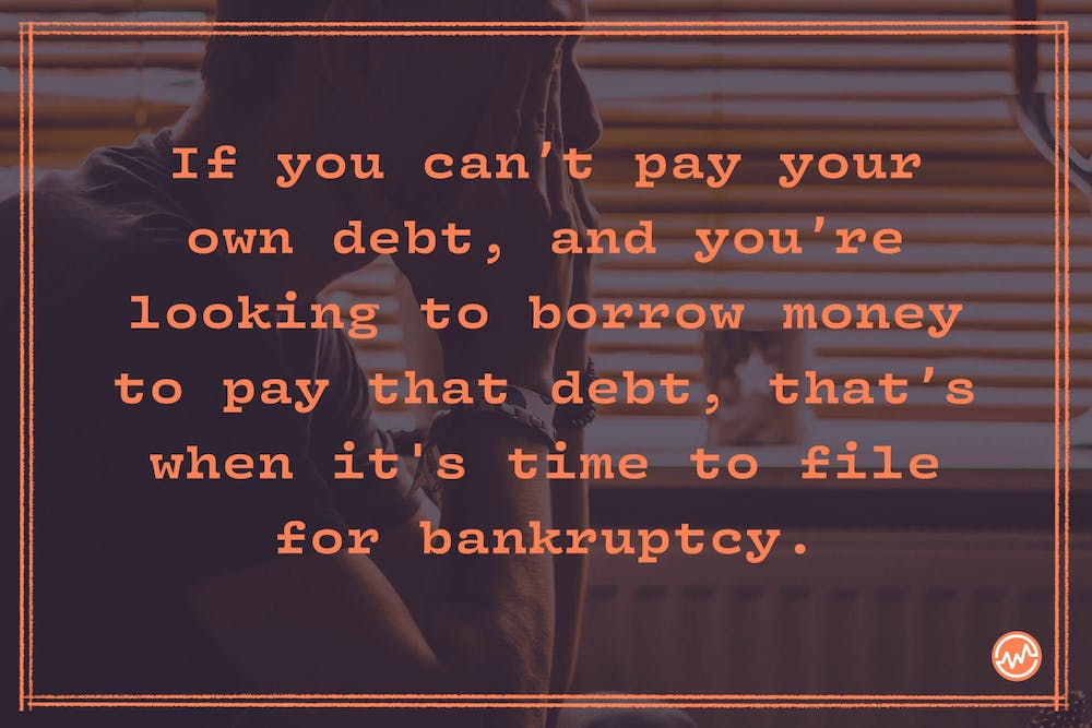 """If you can't pay your current debt, and you're borrowing money to pay another creditor, you're compounding the issue, and you're digging yourself into a deeper """"debt"""" hole."""