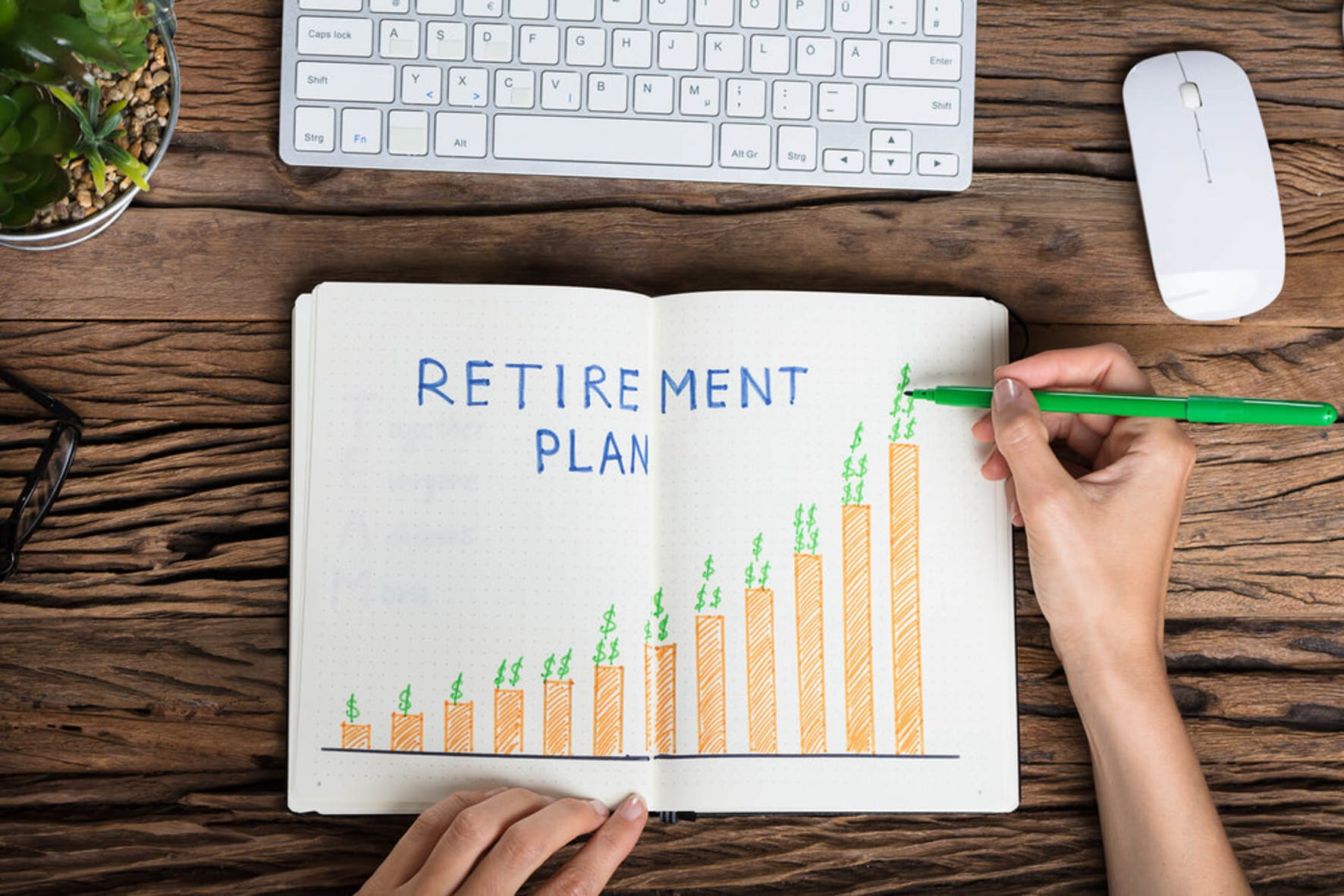 Retirement plan chart - save for retirement