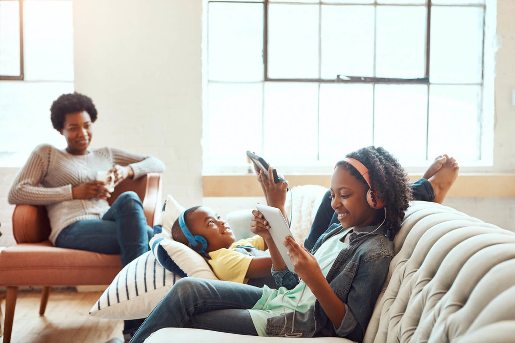 Family is enjoying the best cable alternatives on their iPads: Netflix and Hulu.