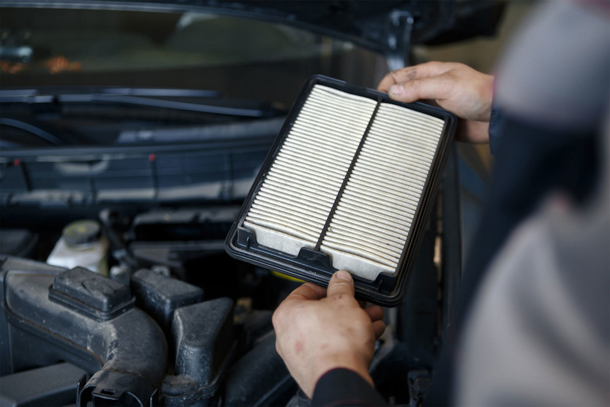 Replacing your air filter to save money on gas