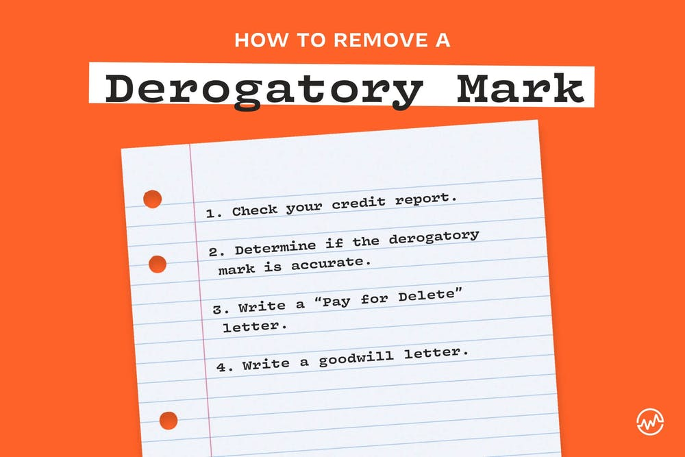 How to remove a derogatory mark: 4 ways