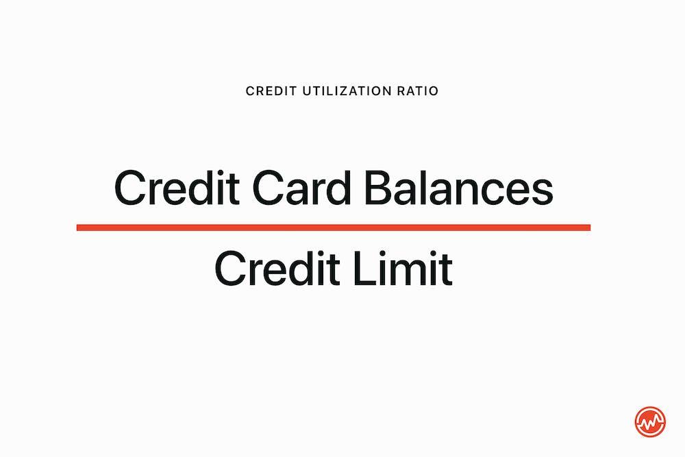 Credit utilization ratio: credit balances divided by credit limit