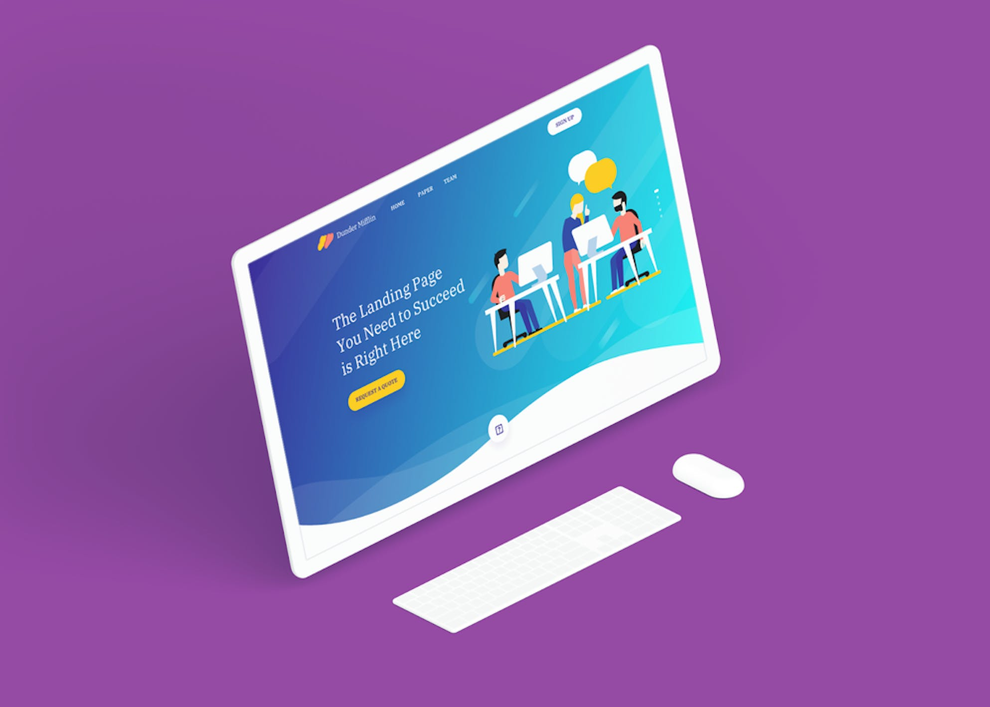 Build a landing page to demonstrate demand for your business.