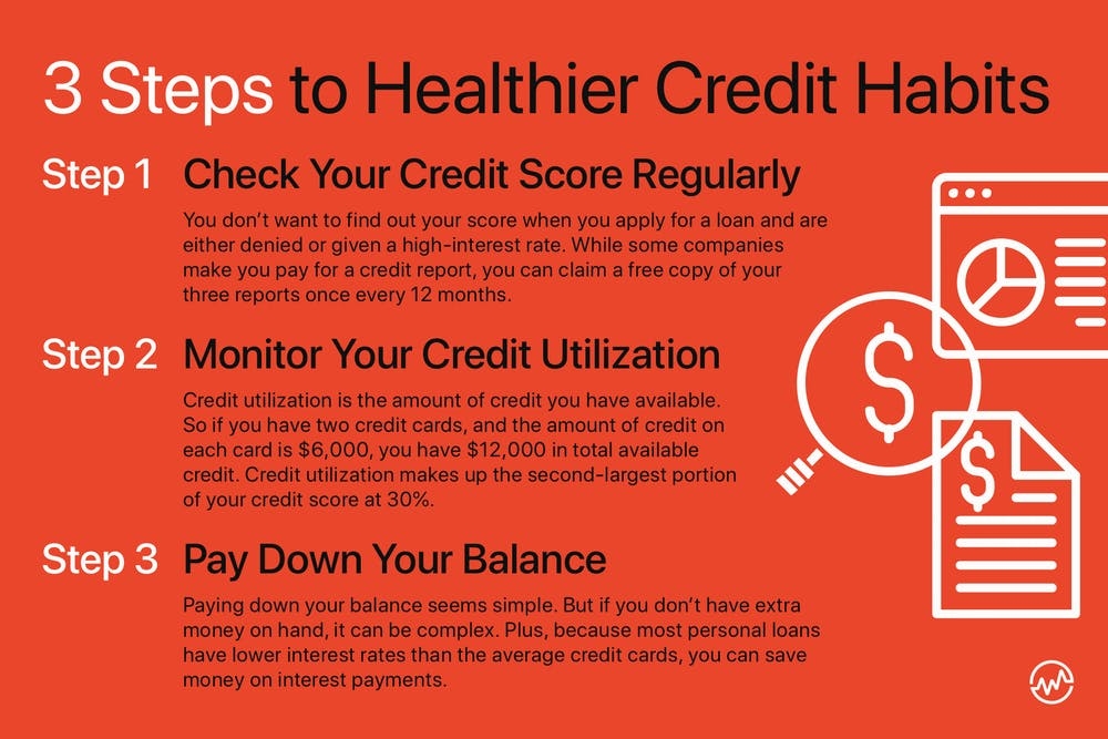 3 steps to healthier credit habits
