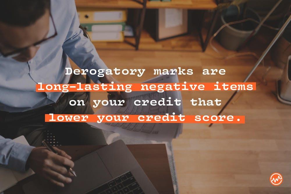 Defining a derogatory mark