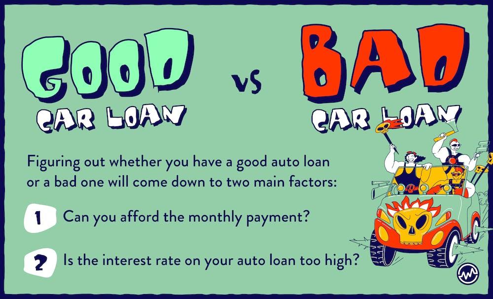 Good car loan vs bad car loan